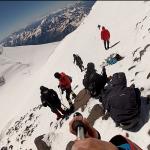 спуск с вершины эльбруса на сноуборде