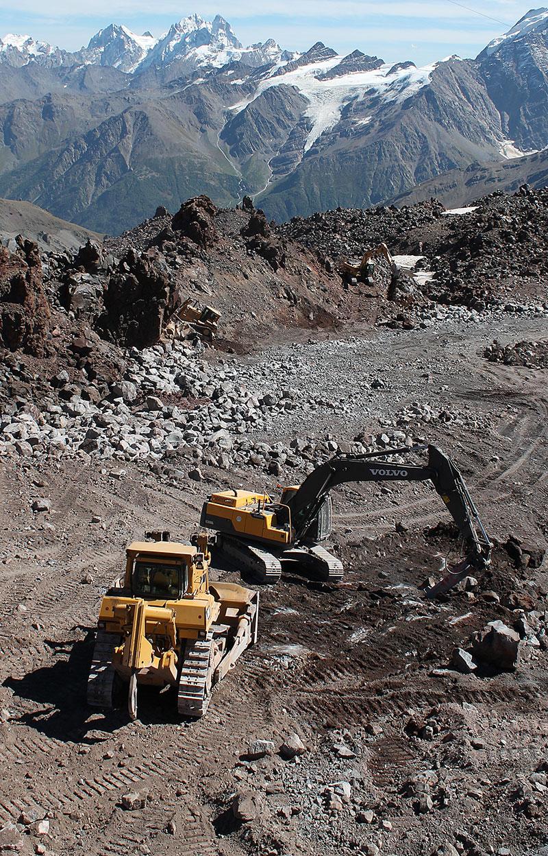 строительство новой канатки на эльбрусе