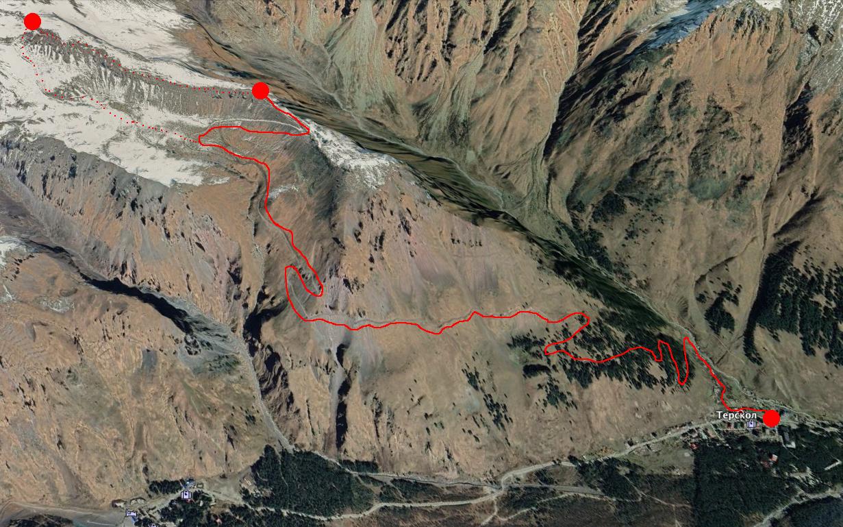 маршрут к обсерватории Приэльбрусье