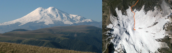 ascension de l'ekbrus face north