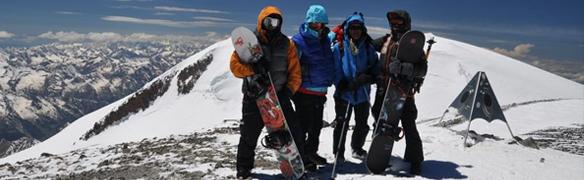 ascension de l'Elbrus en ski de randonnee